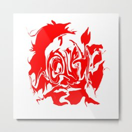 face4 red Metal Print