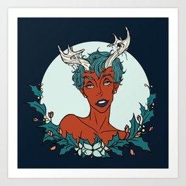 Holly Sprite (Teal/Sienna) Art Print