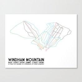 Windham, NY - Minimalist Trail Art Canvas Print