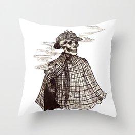 Sherlock Bones Throw Pillow