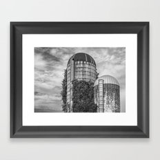 Abandoned Silos Framed Art Print