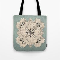 cyberpunk Tote Bags featuring Ancient Calaabachti Filigrane by Obvious Warrior