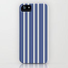 Blue and Cream Stripes iPhone Case