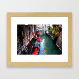 Venitian Canal Framed Art Print