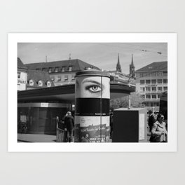EYE OF THE CITY Art Print