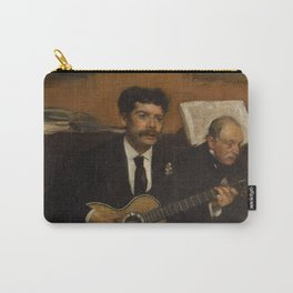 Lorenzo Pagans and Auguste de Gas by Edgar Degas Carry-All Pouch