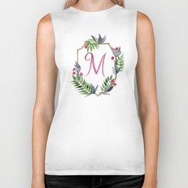 Jungle Gold Monogram Crest M Biker Tank