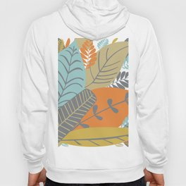 Bright Tropical Leaf Retro Mid Century Modern Hoody