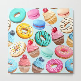 Delicious Desserts Metal Print
