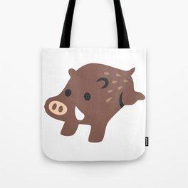 Boar Emoji Tote Bag