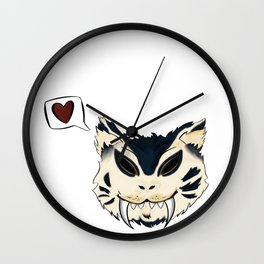 Blue Saber Loves your Face Wall Clock