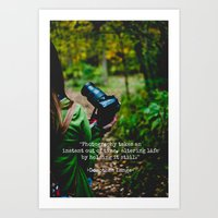 photographer Art Prints featuring Photographer by Jo Bekah Photography