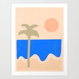 abstract paradise 4 Art Print