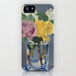 "Édouard Manet ""Lilas et roses"" iPhone Case"
