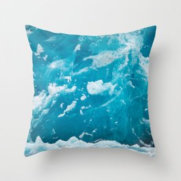 HD Blue Ice Glacier Throw Pillow