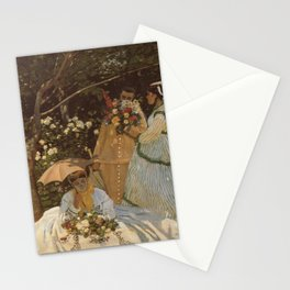 Monet- Women in the Garden, nature,Claude Monet,impressionist,post-impressionism,painting Stationery Cards