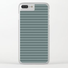 Night Watch PPG1145-7 Horizontal Stripes Pattern 2 on Scarborough Green PPG1145-5 Clear iPhone Case