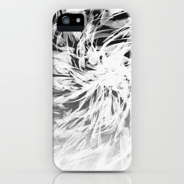 B&W Abstract Spiral iPhone Case