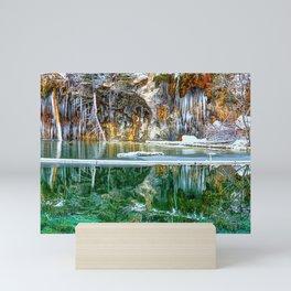 A Serene Chill - Hanging Lake Colorado Panorama Mini Art Print