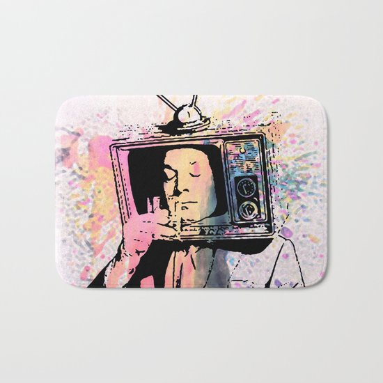 tv man Bath Mat