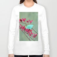 butterfly Long Sleeve T-shirts featuring butterfly by  Agostino Lo Coco