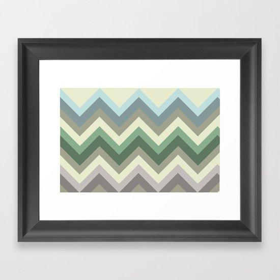 pastel chevron Framed Art Print