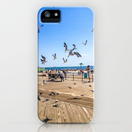 Seagulls of Coney Island iPhone Case