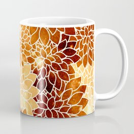 Space Dahlias Golden Bronze Coffee Mug