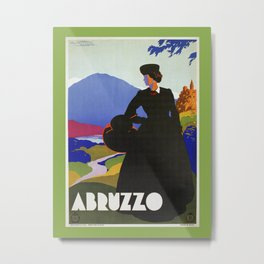 Abruzzo Italian travel Lady on a walk Metal Print