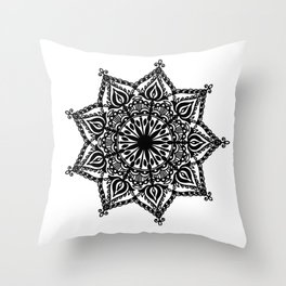 Indie Mandala: hand-drawn Throw Pillow