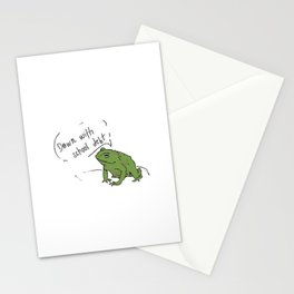 Student Debt Frog Stationery Cards
