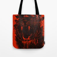 king Tote Bags featuring The King by nicebleed