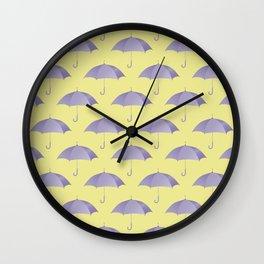 Ultra violet umberlla pattern Wall Clock