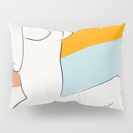 Matisse Minimal Art, Matisse Art Print, Mid Century Wall Art, Woman Minimal Sketch, Modern Art Pillow Sham