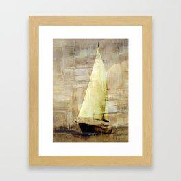big sailboat Framed Art Print