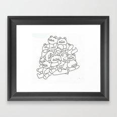 Lucio Frog Pile  Framed Art Print