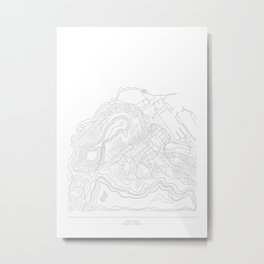 Steet Map - Cape Town, South Africa Metal Print