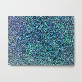 treemap mosaic - copper sulfate Metal Print