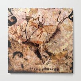 Lascaux Cave Deer I Metal Print