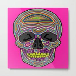 Candy Skull Metal Print