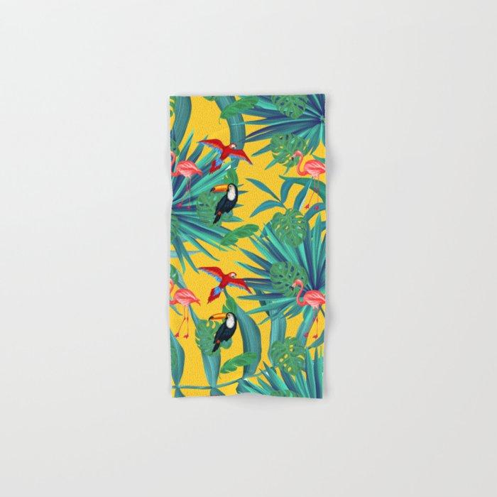 tropical yellow Hand & Bath Towel