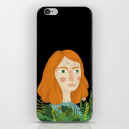 A girl and her plants iPhone Skin