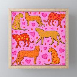 Valentine Leopard Print Framed Mini Art Print