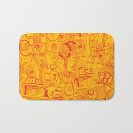 Cameras for Days - on yellow Bath Mat