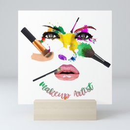 MakeUp Artist, Make up master, fashion Mini Art Print