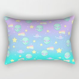 Fairy Kei Kawaii Aliens Rectangular Pillow