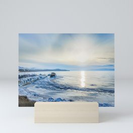 Frozen wharf and Halo Mini Art Print
