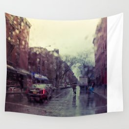 Rain in the City Wall Tapestry