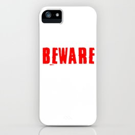 Hallows Eve Hallow Puns Boos Ghost Gift Beware I Bite Halloween Party iPhone Case