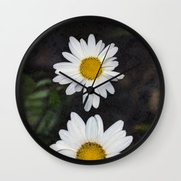 Old And Young Daisies Texture Wall Clock